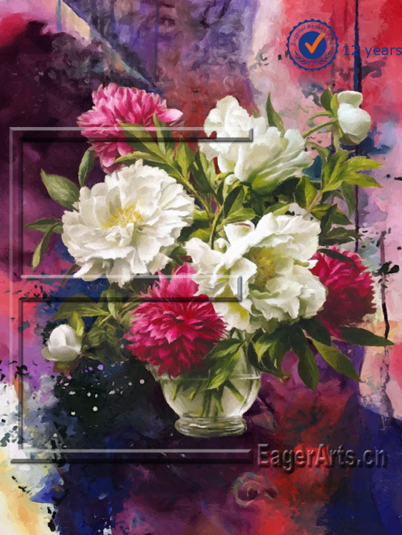 Modern Handmade Beautiful Flower Wall Oil Painting-60x80cm (24x32inch) 2