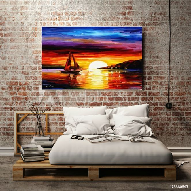 Sunset view colorful one panel wall art.jpg